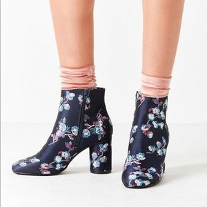Urban Outfitters Juliet Floral Ankle Boots